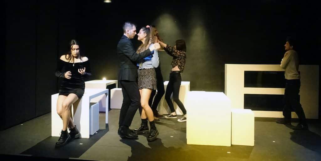 Alumnos de Arte4 en el teatro